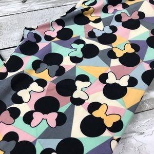 LuLaRoe Pants - LulaRoe Geometric Disney Minnie Mouse OS Leggings